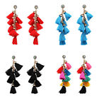 9 colors Women's Fashion Multi Tassel Drop Long Earrings Hot Sale Wholesale