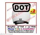2 DOT Motorcycle Bike Helmet Harley Indian Safety Vinyl Decal Sticker lot 1.5""