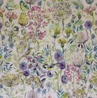 Voyage Morning Chorus Linen Designer Curtain Fabric 140 cm wide - £29.50mt