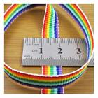 RAINBOW GAY PRIDE HEAVY WOVEN RIBBON *7 WIDTHS* DIFFERENT LENGTHS COLOURFUL