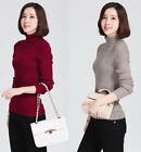Autumn&Winter Womens Pullovers Knitted Sweater Slim Turtleneck Cashmere Sweaters