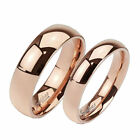 Solid Titanium Rose Gold 4mm or 6mm Plain Band Ring Size 4.5-13 -  Engravable