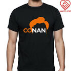 New Conan O'Brien logo Men's Black T-Shirt Size S-3XL