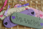 WOODEN SIGN / PLAQUE .. Home Sweet Home  .. POLKA DOT SHABBY CHIC ... GIFT