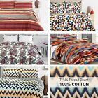 Modern Abstarct Wave colourful Kids Teenager Zig Zag 100% Cotton Duvet Cover Set