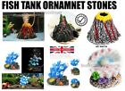 NEW Fish tank ornament Aquarium decoration Bubbler Stones New Designs UK FREE