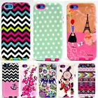For Apple iPhone 5S 5 Phone Hybrid Hard Gummy Ultra Thin Back Armor Case Cover