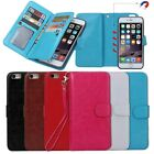 Removable Detachable Magnetic Wallet Back Case Cover For Apple iPhone 5C 5G 6 6+