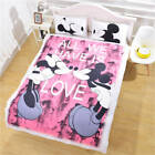 Disney Mickey Mouse Duvet Cover Love Couple Bedding Set Quilt Covers Pillowcases image