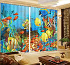 Free And Colorful Fish 3D Curtain Blockout Photo Print Curtains Fabric Window