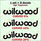 8 X Wilwood Brake Caliper Decal Sticker Emblem Logo Vinyl High Temp Design #2 A