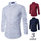 Men's Blouse hombres Camisa Hombres Ropa Long Sleeve shirt Printed shirt FF