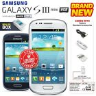 New & Sealed Factory Unlocked Samsung Galaxy S3 Iii Mini I8190 Blue White Phone