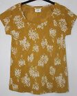 White Stuff Stretch Cotton Mustard Floral Broderie Anglaise Tee Top 6 8 12 14