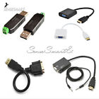 HDMI Male to VGA Female Video Converter Adapter Cable for PC DVD HDTV TV 1080P