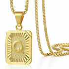 Womens Mens Gold Filled A-Z Initial Necklace Letter Pendant Box Chain Unisex