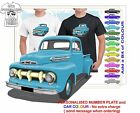 CLASSIC 1952 FORD PICKUP TRUCK ILLUSTRATED T-SHIRT MUSCLE RETRO SPORT CAR