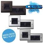 BG NEXUS BRUSH OUTLET CABLE ENTRY WALL PLATES SINGLE & DOUBLE GANG