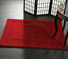 SIERRA APOLLO PLAIN RED THICK CHUNKY DEEP SOFT PILE LUXURY AREA 100% WOOL RUGS