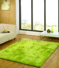 SMALL - EXTRA LARGE THICK CHUNKY SOFT LUXURIOUS VIBRANT LIME GREEN SHAGGY RUG