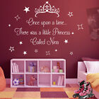 Personalised Princess & Stars Girls Quote Decal Bedroom Text Wall Stickers A367