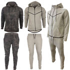 MENS HOODED TOP BOTTOM FULL CAMOUFLAGE TRACKSUIT JOGGERS GYM SPORTS SIZE UK S-XL