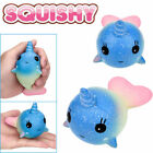 Kawaii Squishy Mini Whale Millie Pink Blue Scent Squeeze Slow Rising UK SELLER