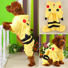 Pet Dog Cat Winter Clothes Coat Apparel Puppy Coat Jacket Hoodie Pikachu Costume