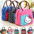 Adorable Polka School Office Outdoor Picnic Lunch Food Tote Bag Storage Carrier