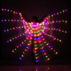 Women Belly Dance Costumes Egyptian 360° LED Light Isis Wings Sticks Performance