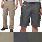 New BC Clothing Men's Convertible Stretch Cargo Hiking Active Pants Shorts M-XL