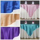 "60x60"" Square SATIN Overlays Wedding Party Reception Dinner Catering Decorations"