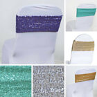 25 Spandex Sequined CHAIR SASHES Ties Wraps Wedding Party Decorations SALE $67.14 USD