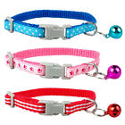 3pcs/lot Puppy Small Dog Collars with Bell Polka Dots/Paw/Stripe Pattern