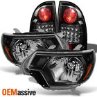 2012-2015 Toyota Tacoma Pickup Black Headlights+Black LED...