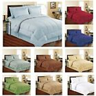 Внешний вид - Soft Embossed Dobby Stripe 8PC Bed In Bag Comforter Sheet Set Sham Pillowcase