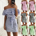 New Women Casual Sleeveless Evening Party Cocktail Beach Short Mini Dress P6417