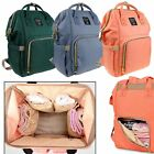 Top Mummy Maternity Nappy Diaper Bag Large Capacity Baby Bag Travel Backpack US