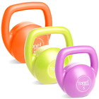 Kettlebell Set Vinyl Coated with DVD for Sculpted Stable and Toned Physique 10Lb