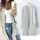 2017 New Autumn Long Sleeve Loose Casual Sweater Coat Cardigan Women Outwear FF