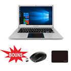 KOCASO Laptop PC Windows 10 Quad-Core 14.1  Slim Notebook 32GB Bluetooth Wifi