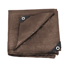 durable rip-stop Stansport Reinforced Brown Rip-Stop Tarp - Multi-purpose use