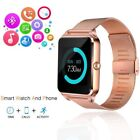 Rose Gold Bluetooth Smart Wrist Be prepared Steel Band Phone Counterpart for Android iPhone