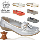 JO&JOE LADIES GENUINE LEATHER WOMENS LOAFERS SLIP ON OFFICE WORK CASUAL SHOES UK