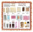 Various sets of clay / fondant shaper modelling sculpting tool sets - polymer