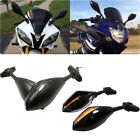 MOTORCYCLE LED TURN SIGNAL MIRRORS FOR YAMAHA 2000-06 07 2008 YZF R6 R6S FZR600 $25.3 USD