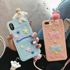 Cute Cartoon Melody Dog cat Strap silicone case cover for iphone X 8 7 6 6S plus