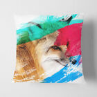 Faux Suede Throw Scatter Cushion A Red Fox V2