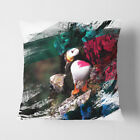 Faux Suede Throw Scatter Cushion Atlantic Puffin (2) V2