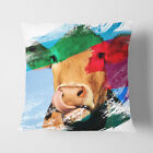 Faux Suede Throw Scatter Cushion Cow (2) V2